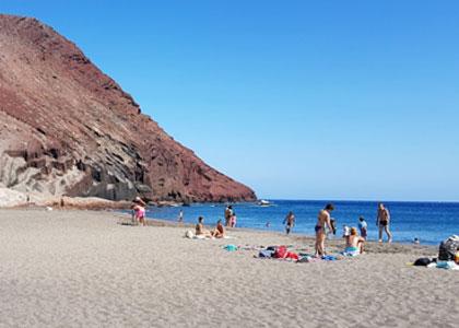 На пляже Ла Техита