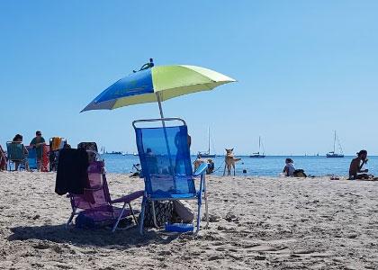 На пляже Pinedo