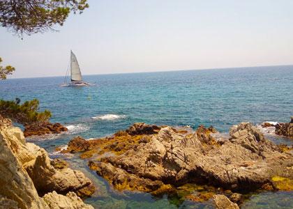 На пляже Са Калета