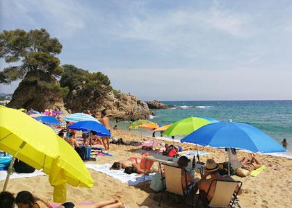 На пляже Santa Cristina