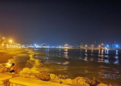 Ноч на Playa de Huelin