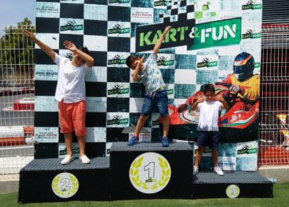 Пьедестал в Kart&Fun