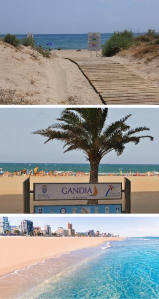 Playa de Rafalcaid,Playa Nord de Gandia,Cala El Faro