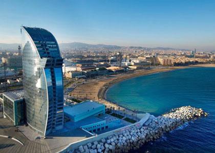 Пляж Bogatell Барселоны