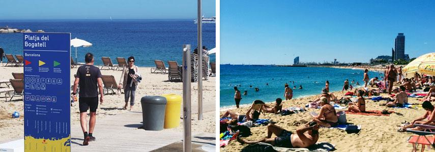 Пляж Bogatell в Барселоне