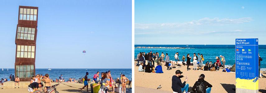Пляж Sant Miquel Барселона
