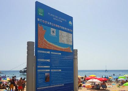 Схема пляжа