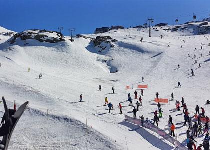 Трасса горнолыжного курорта Сьерра Невада