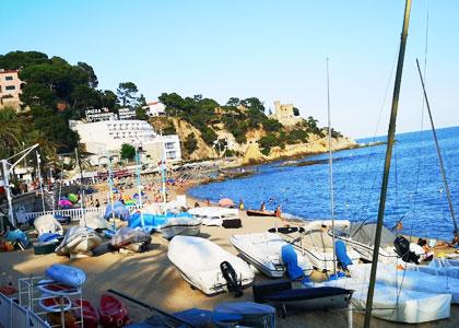 Вид на пляж De Sa Boadella