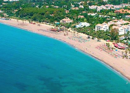 Вид на пляж Касабланка