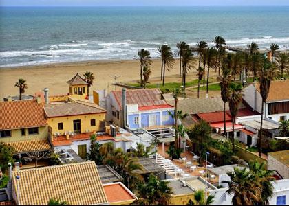 Вид на пляж Patacona