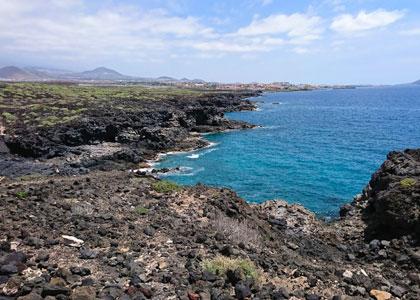 Вид на пляж Playa Colmenares