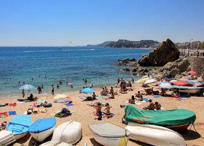 Вид на пляж Са Калета