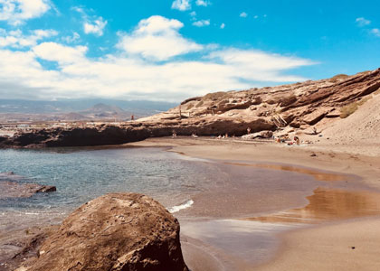 Вид на пляже Ла Техита