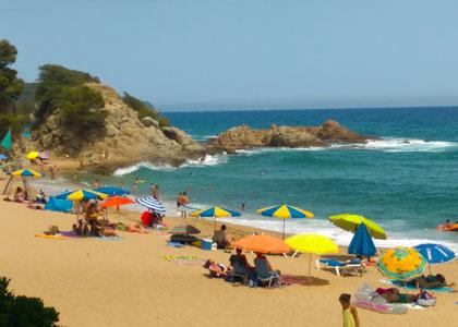 Вид на пляже Treumal