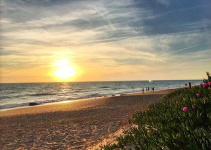 Закат на пляже Агуадульсе