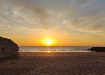 Закат на пляже Ла Пелада