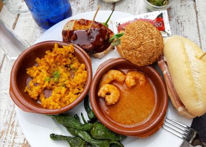 блюдо в тапас-баре la Santa