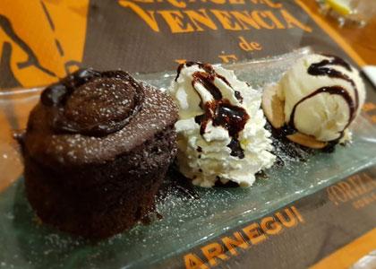десерт в Bodegas la Venencia – La Fontanilla