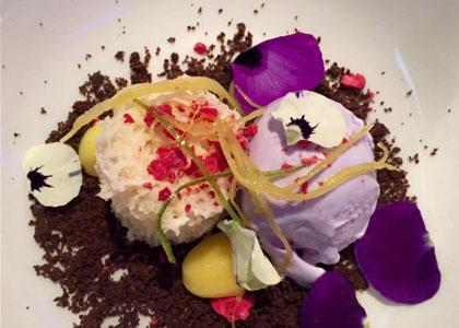 десерт в ресторане El Gran Gatsby