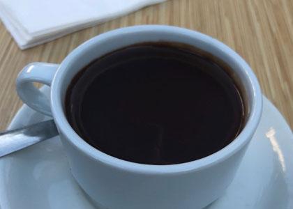 горячий шоколад в кафе Ramon