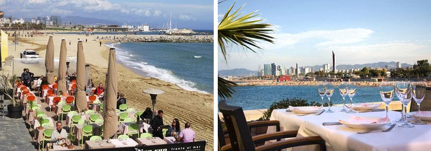 кафе и рестораны на набережной Барселоны