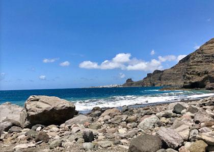 каменистый пляж Guayedra