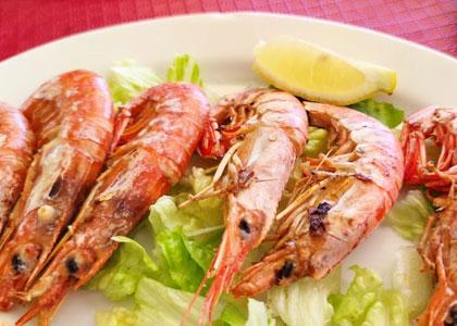 креветки в Restaurante la Escollera