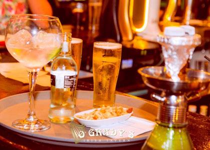 напитки и закуски в O'Grady's Irish Pub