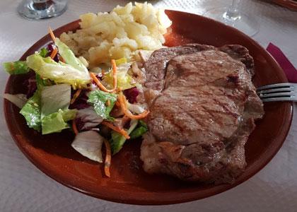 обед в La Huerta de los Cristales