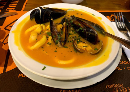 суп с ракушками в Bodegas la Venencia – La Fontanilla