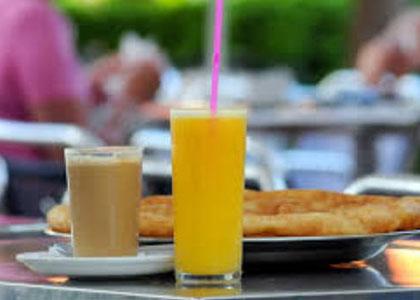завтрак в кафе Ramon