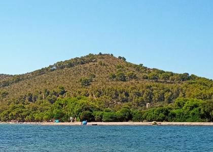 Вид на пляж Альканада