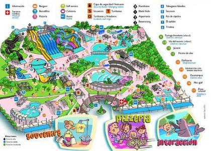 Карта парка