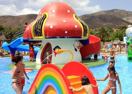 Аттракционы для детей в акваленде Торремолинос