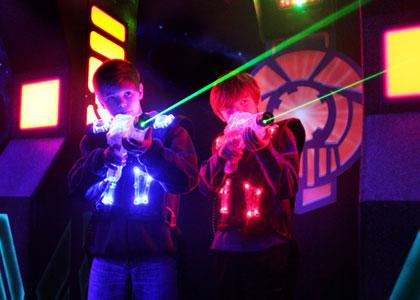 Дети в лазертаге