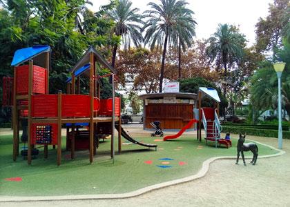 Детская площадка в малагском парке