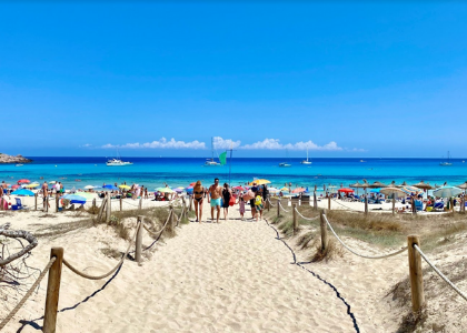 Дорогпа на пляж Кала-Агулла