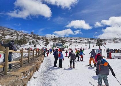 На горнолыжном курорте Хаваламбре