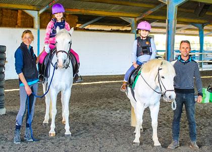 Обучение в центре верховой езды Hacienda Horses