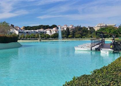 Озеро в Parque la Bateria