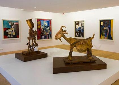 Скульптуры в Музее Пикассо