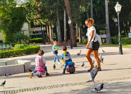 В парке Конституции с детьми