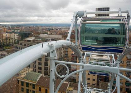 Вид на город с колеса обозрения Noria Mirador Princess