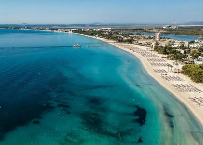 Вид на пляж Алькудия