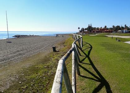 Вид на пляж фото