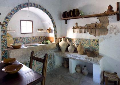 Интерьер кухни в музее Майорки в Пальме