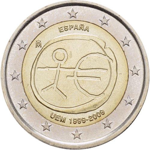 От 2009 г. <p> Выпущенные к 10-летию создания валютного союза ЕС;