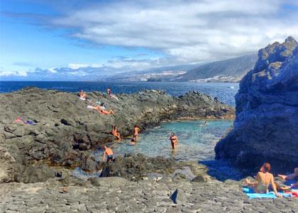 На пляже Чарко-Дон-Габино