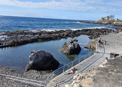 На пляже La Jaquita